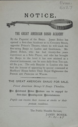 Advert for the Great American Banjo Academy 6027